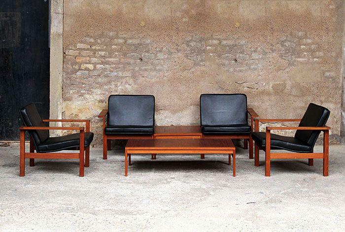 ensemble de fauteuil et table basse scandinave design. Black Bedroom Furniture Sets. Home Design Ideas