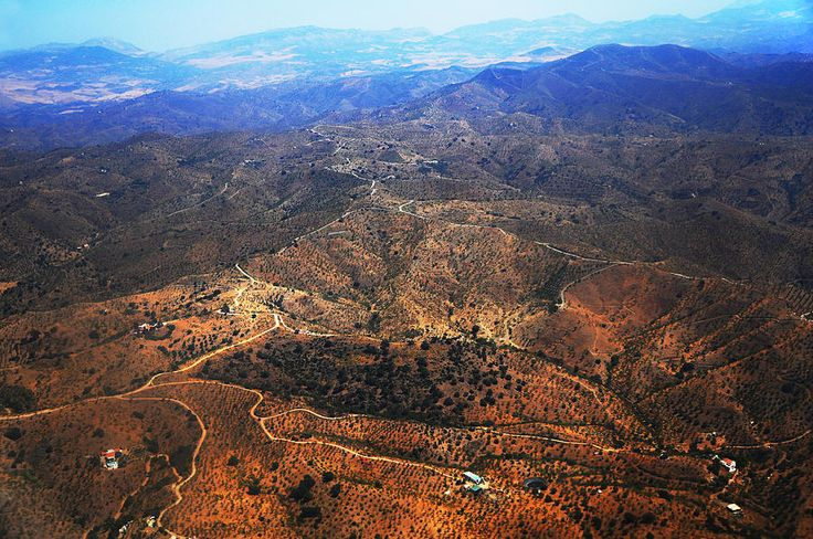 Aerial View Of Andalusian Heights. Spain by Jenny Rainbow