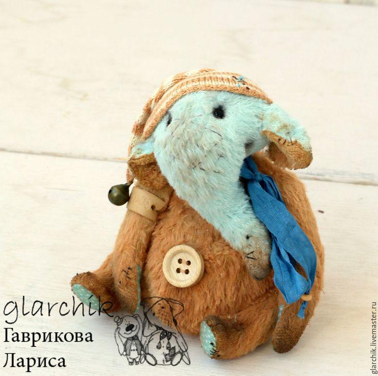 Купить Микрослоник Моки - бежевый, бирюзовый, слон, слоник, слоненок, слоник тедди, друзья тедди