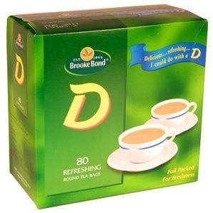 Brooke Bond D Box 80 Teabags