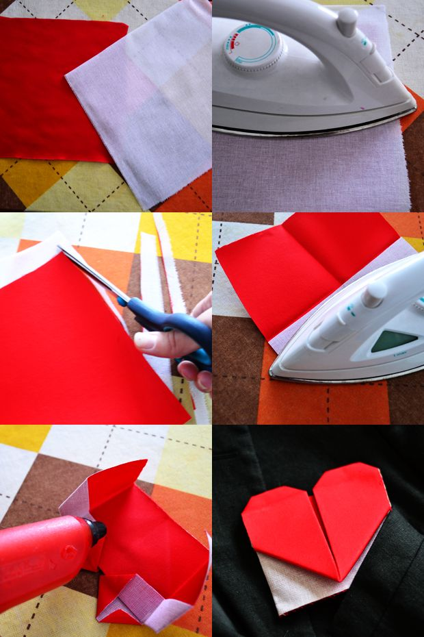 Valentine's Day DIY: Origami Heart Pocket Square   Make A Cute Thing Every Day
