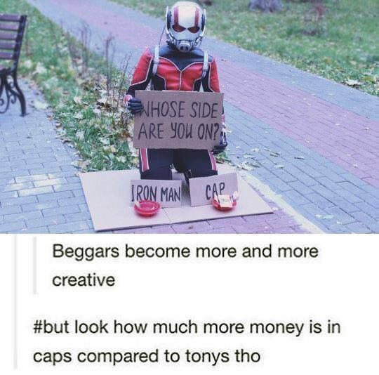 I choose Cap :( I love Tony but I can't be okay with the registration act.