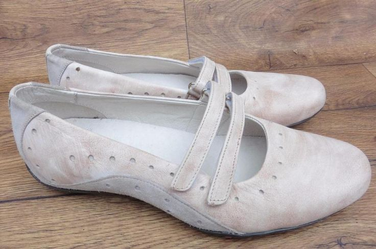 SIZE UK 5 CLARKS MOTTLED PINK LEATHER SPORT DANCE PUMP SHOES DOUBLE VELCRO STRAP