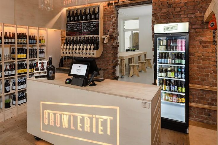 Concept craft beer store with a variety of microbrews and a growler filling station where you can fill your own bottles. The bottles, called...