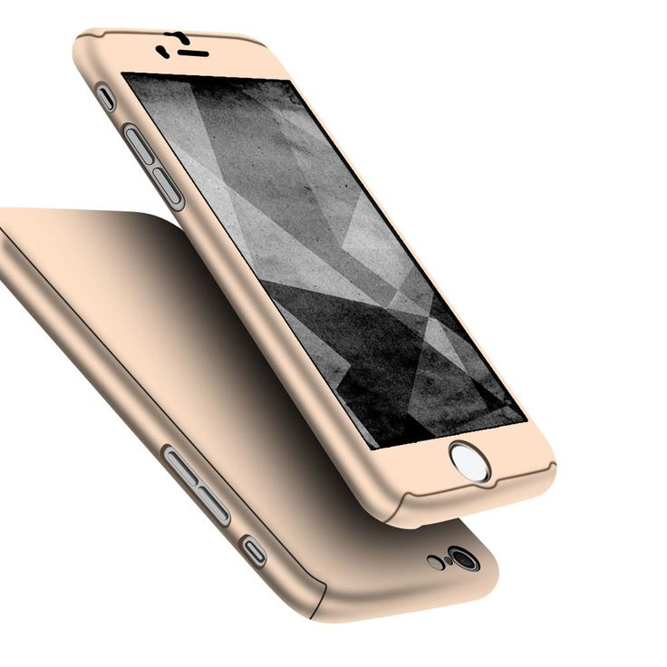 iPhone 7 Case, Jorty 360 Full Body Protection Hard Slim Case Coated Non Slip Matte Surface with Tempered Glass Screen Protector for Apple iPhone 7 (4.7-inch) - Gold. German hardness PC material. Metal texture handle feel, smooth, and anti-Slip. Ultra-Thin Full Body Case is Only 1mm surface, You never saw a full body case as thin as this one and also keep high touch sensitivity. Standalone camera, flash, sensor hole reflect aesthetic idea. Precise buttom cellular hole desgin maintain the...