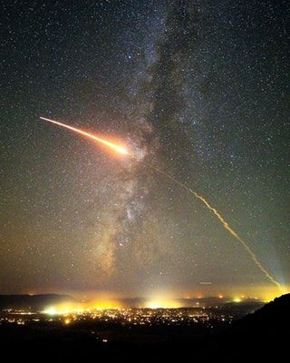 Captured the second stage of an Atlas V rocket over Santa Barbara county! : space