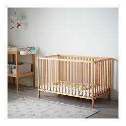 SNIGLAR ベビーベッド, ビーチ - 60x120 cm - IKEA