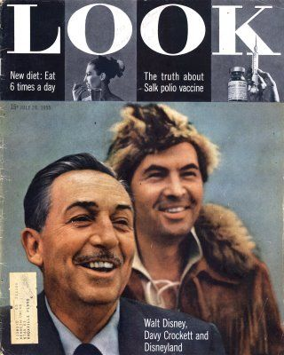 *WALT DISNEY ~ and Fess Parker who portrayed Davy Crockett.