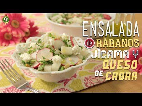 Los lunes se disfrutan mejor con una rica ensalada, por ejemplo, esta Ensalada de Rábanos, Jícama y Queso de Cabra.  #CocinaFresca es presentada por Walmart ¡Suscríbete!