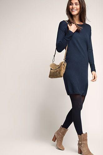 edc - Gemêleerde gebreide jurk kopen in de online shop