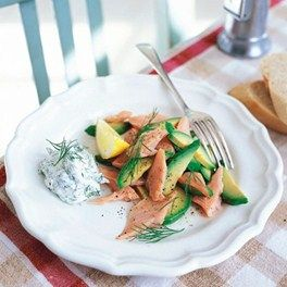 Smoked trout with avocado