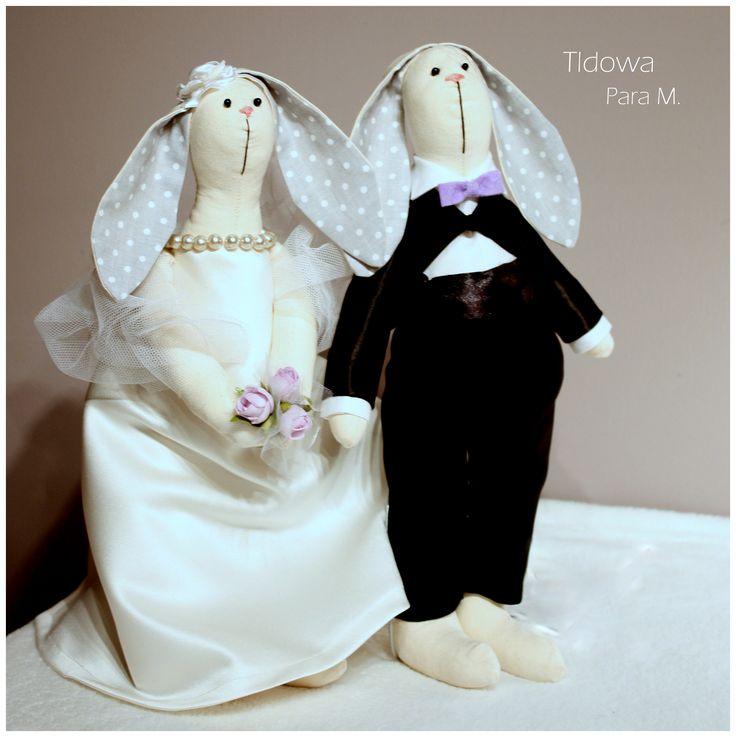 Tilda #bride #groom #wedding #szycie #królik