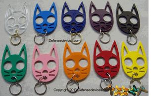 Cat Head Keychain - this is sort of a genius invention: you can use it as a self-defense weapon.