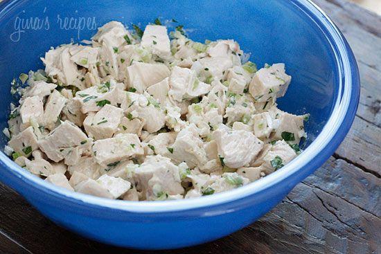 Lighter Chicken Salad | Skinnytaste: Lighter Chicken, Salad Chicken, Chicken Salads, Food, Chickensalad, Chicken Broth, Chicken Salad Recipes, Chicken Breast