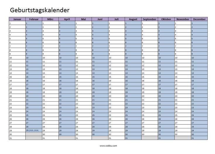 Kalender 2017, Vorlagen,