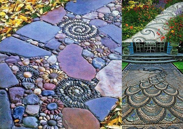 Il sentiero di ghiaia per il giardino più attrattivo e bello