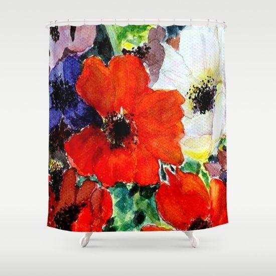 17 mejores ideas sobre cortinas de ducha de color rojo en ...