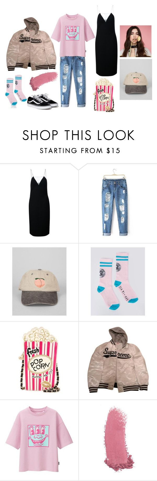 """#untitled7"" by yuna92 on Polyvore featuring Alexander Wang, Lazy Oaf, Betsey Johnson, Supreme, Uniqlo and Gucci"