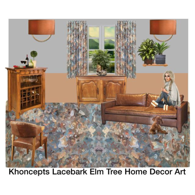 Khoncepts Lacebark Elm Tree Home Decor Art