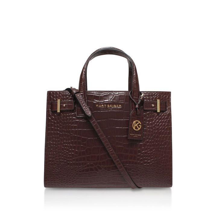 croc london tote wine tote bag from Kurt Geiger London