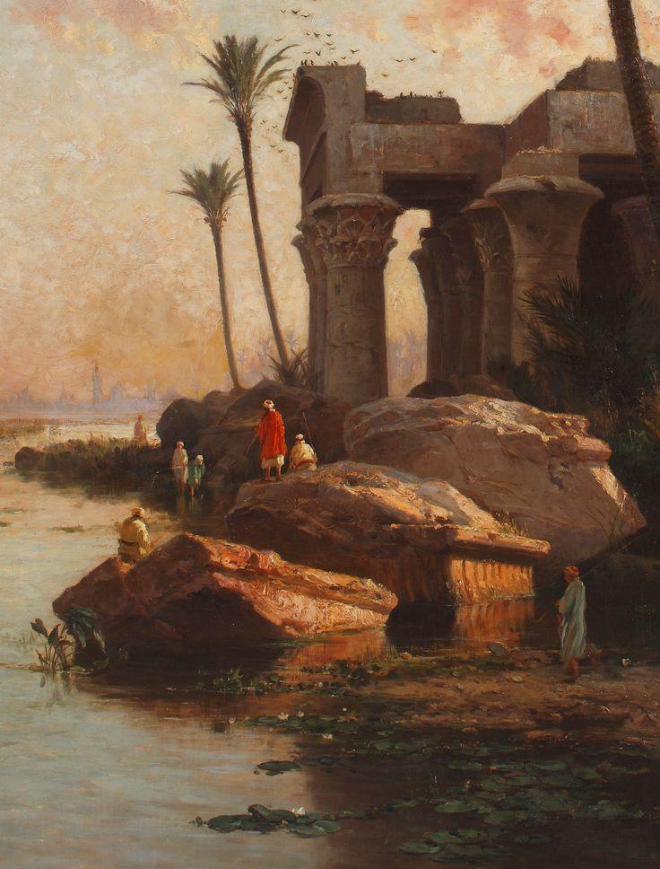 Carlos de Haes - Paisaje egipcio - 1883