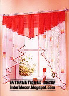 red kitchen CURTAINS - Google Search                                                                                                                                                                                 Más