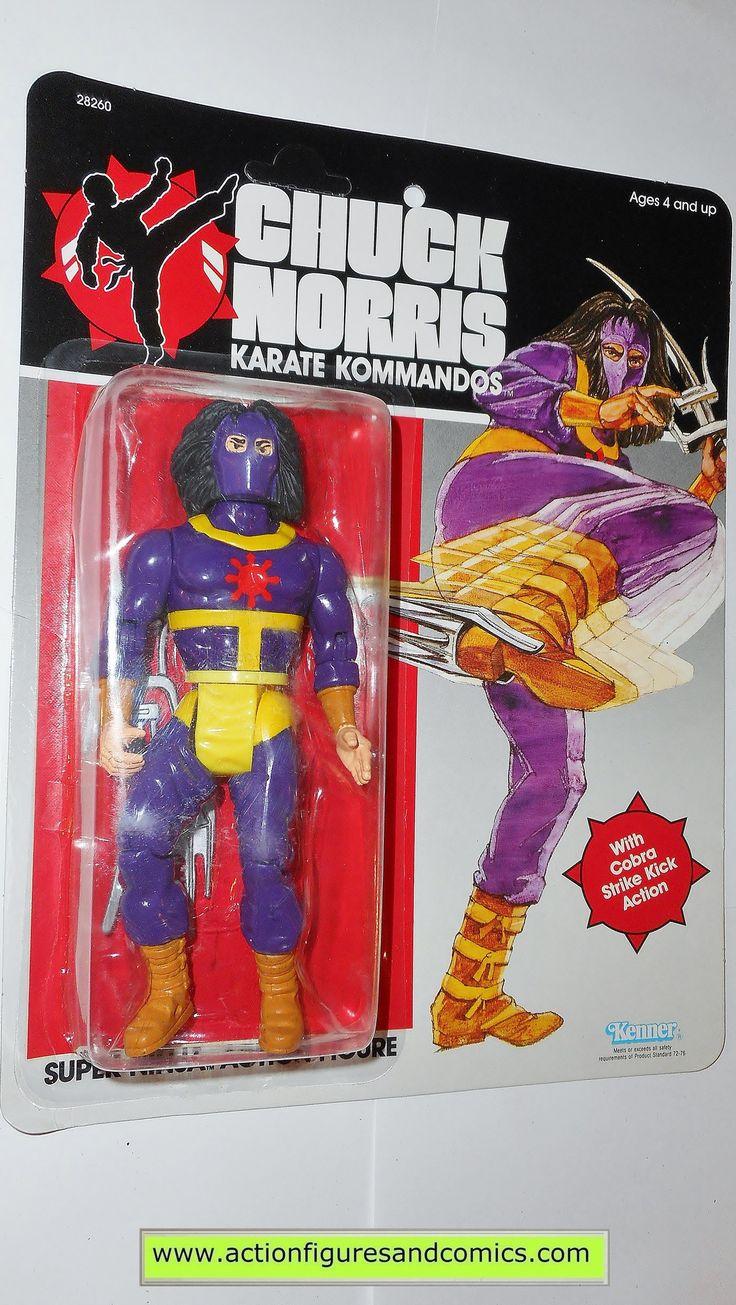 chuck norris karate kommandos SUPER NINJA 1986 vintage kenner toys action figures 0777