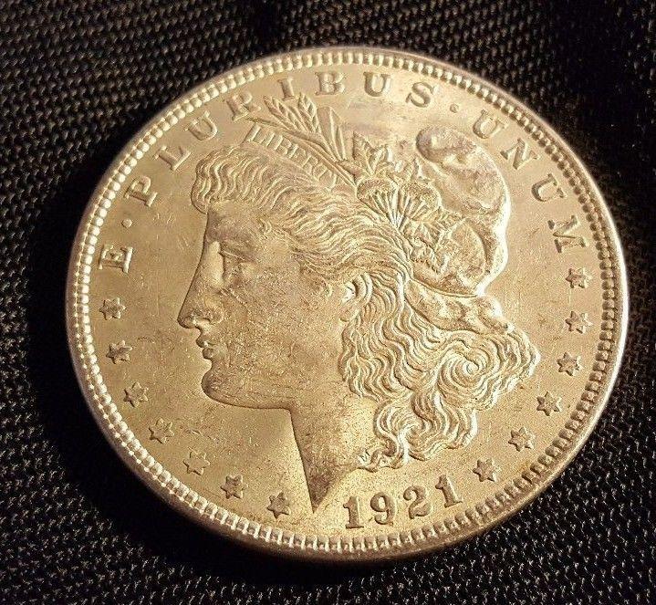 US 1921 Morgan silver dollar circulated