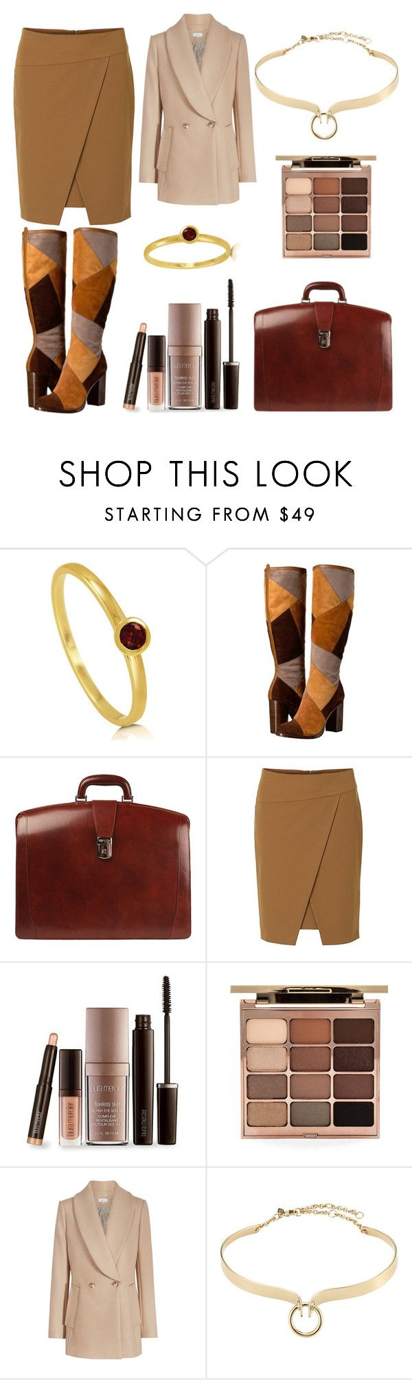 """""""Traveling For Business"""" by mjstcloud13 ❤ liked on Polyvore featuring BERRICLE, Frye, Bosca, Betty Barclay, Laura Mercier, Stila and Alexis Bittar"""