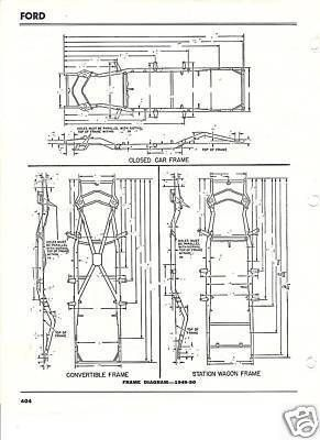 1949 Chevy Wiring Diagram 1949 1950 Ford Frame Dimensions Alignment Specs Shoebox
