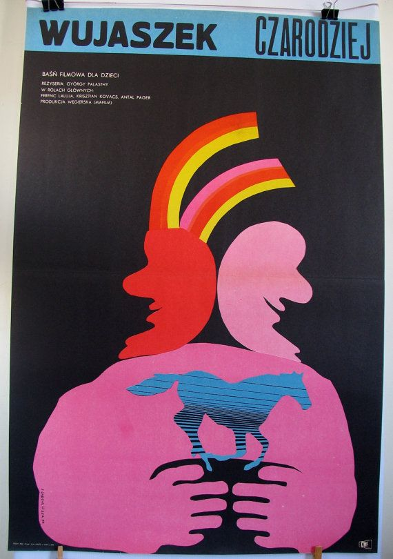 Cinemaposter. Hungarian 1969s film for kids A by artwardrobe, $24.99