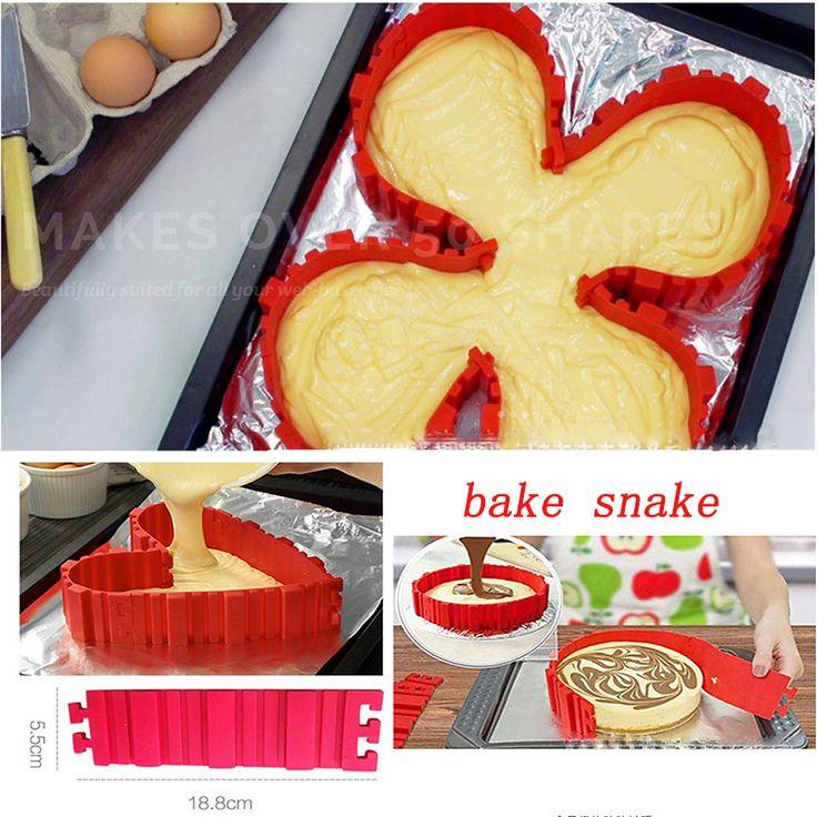 Выпекать Змея Silicome Торта DIY Магия Сердца Тени Прямоугольные, Круглые Тени Торт Плесень Кондитерские Инструменты Кухонные Принадлежности