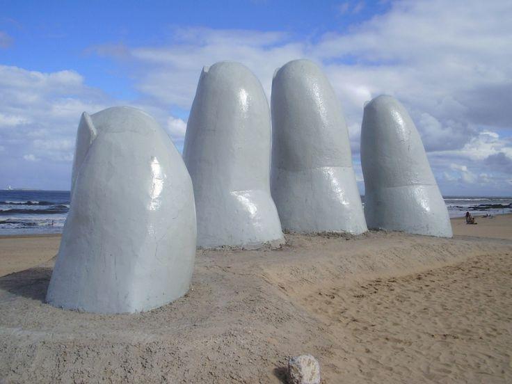 Playa dedos, Punta del Este, Uruguay
