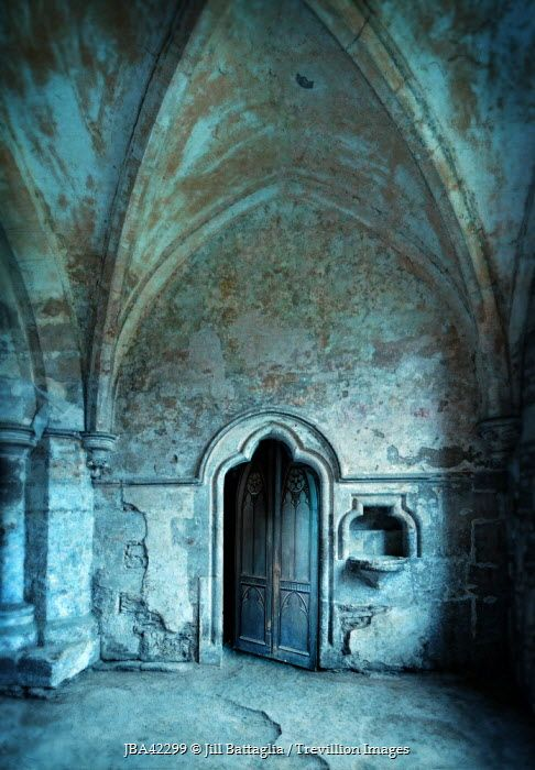Jill Battaglia STONE DOOR IN MONASTERY Religious Buildings