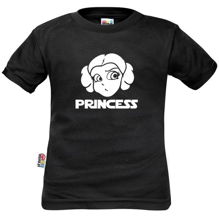 Tee shirt enfan : Princess comme LEIA - Star Wars Family In Black