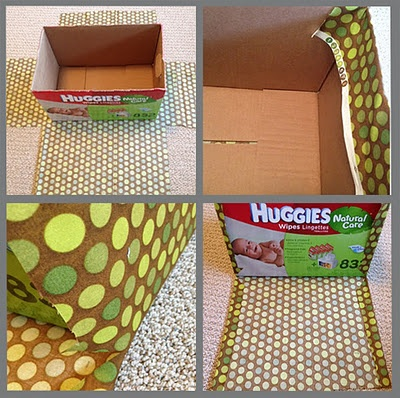 Cover boxes with fabric for cheap storage bins.** calling all friends with babies!!, please hook me up with some boxes!