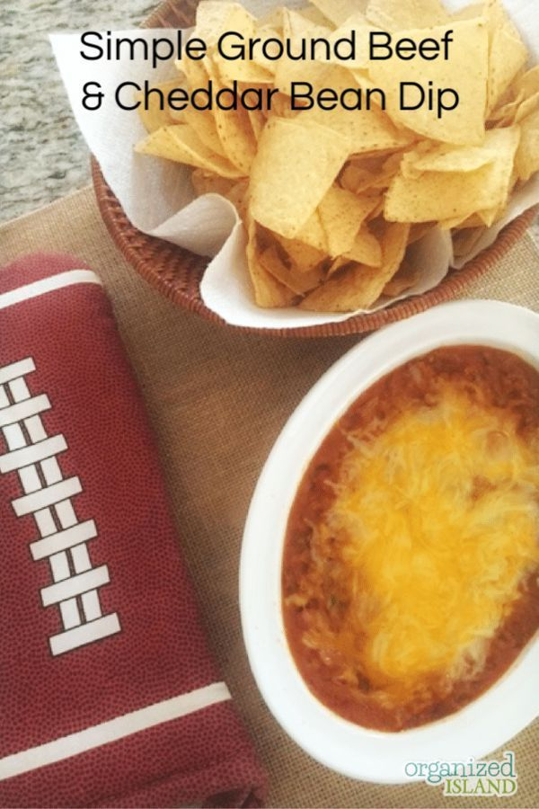 This Simple Ground Beef And Bean Dip Is A Perfect Easy Appetizer Perfect As A Party App Or As A Ga Appetizers Easy Appetizers Easy Dips Easy Appetizer Recipes