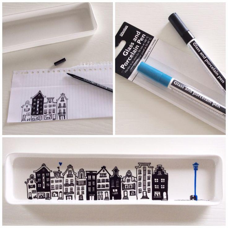 Porselein tekenen - Leonie Haas