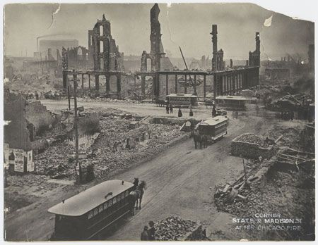 Great Chicago Fire, 1871. I have an ancestor that survived this!