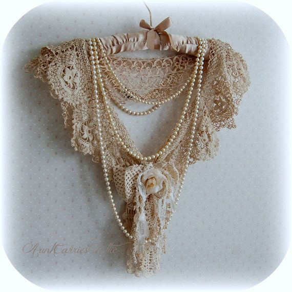 Necklace Collar Scarf Fabric Vintage Laces