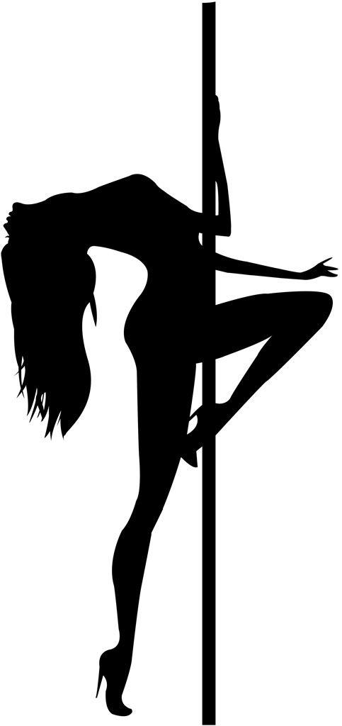 [フリーイラスト素材] クリップアート, ポールダンス, 踊る / ダンス, 人物 (シルエット), 女性 / 女の人, 人物, セクシー, EPS ID:201403050400