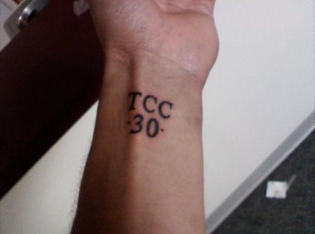 Stephen Curry's tattoo  Trust.Commitment.Care.