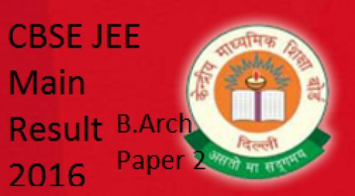 JEE Main Paper 2 B.Arch Result 2016 28 April @ jeemain.nic.in Joint Entrance Examination Architecture