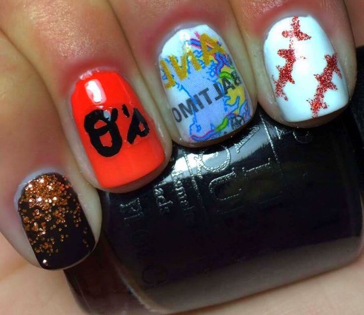 Nails by an OPI Addict:  Baltimore Orioles Nails