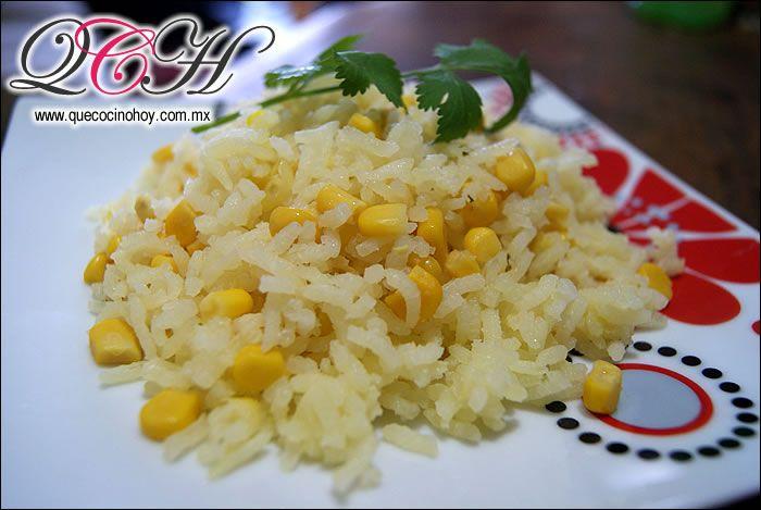 arroz blanco con granos de elote comida casera f cil de