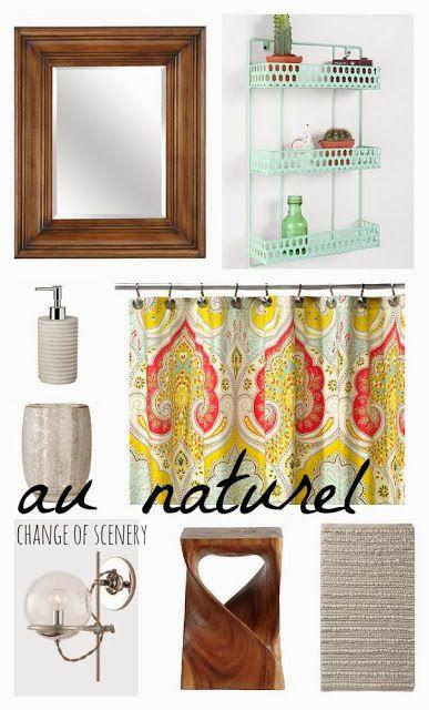Change Of Scenery Boho Bathroom Rustic Bathroom Natural