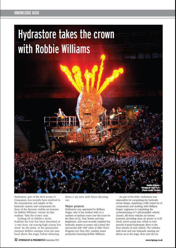 Robbie Williams Hydrastore Feature from page 34 of the September edition of Hydraulics & Pneumatics Magazine
