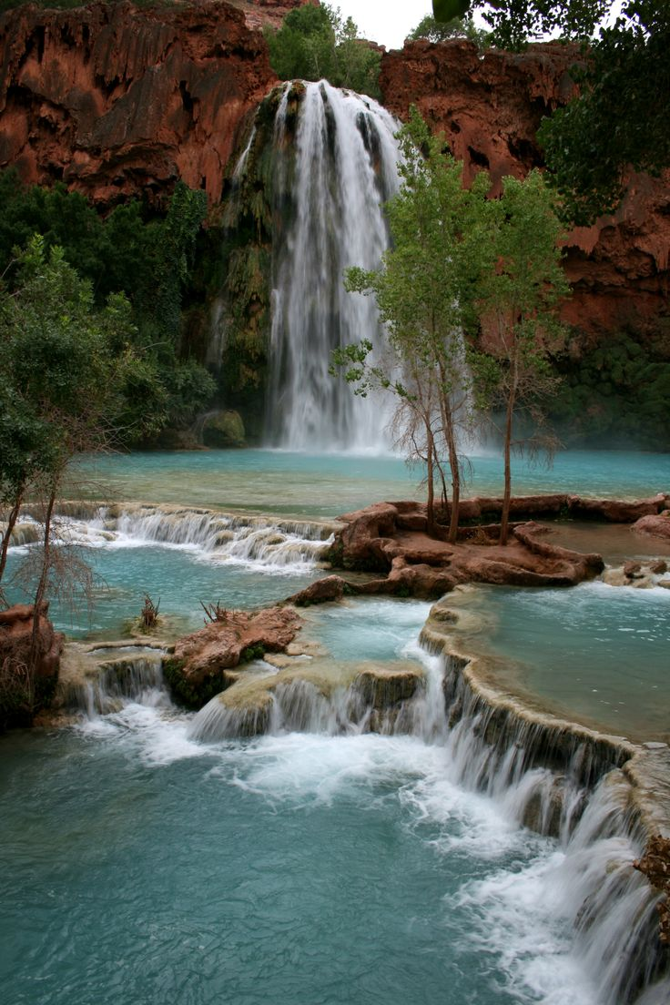 our next adventure! Havasu Falls: Havasupai Indian Reservation. Grand Canyon.  Hiking down there, playing in the water, interacting with the natives...one of the best moments of my life. Someday I'll go back.