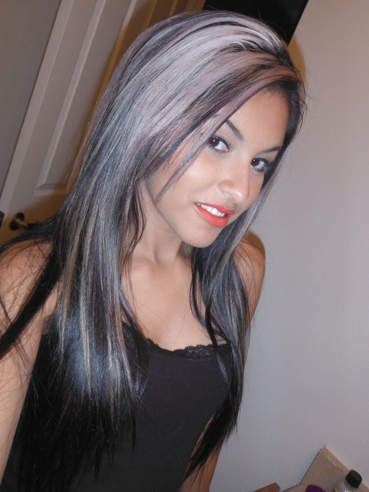 Dark Hair With Silver Highlights Silver Haired Beauty