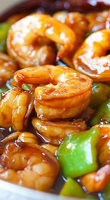 Kung Pao Shrimp ~ super easy to make at home, less than 30 minutes but much better and healthier than Kung Pao Shrimp takeout from restaurants